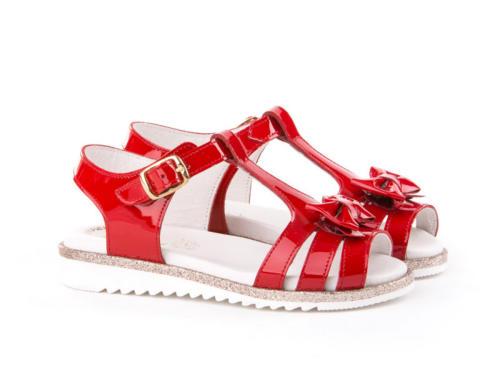 sandalia charol roja