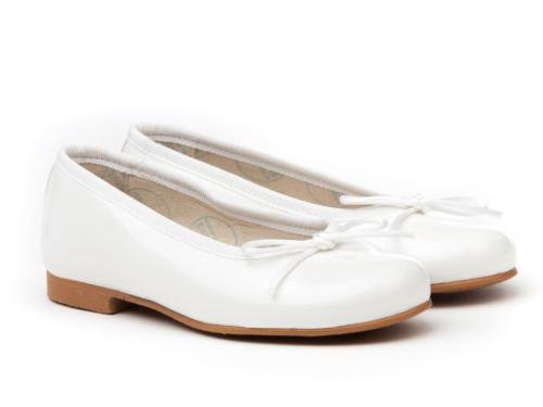 bailarina charol blanca
