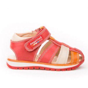 sandalia peque roja