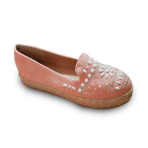 zapato yute rosa